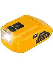 Ersätter för Dewdadapter DCB090 14,4 V/18 V/20 V max USB-strömkälla, omvandlare, ersätta för Dewalt DCB180 och 20 V DCB200 DCB20 och 14,4 V DCB140, batteriadapteromvandlare
