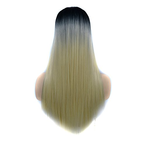 Long Straight Hair Wigs for Women High temperature Silk Synthetic Wig for Cosplay Party Daily Wear Halloween Party (F)