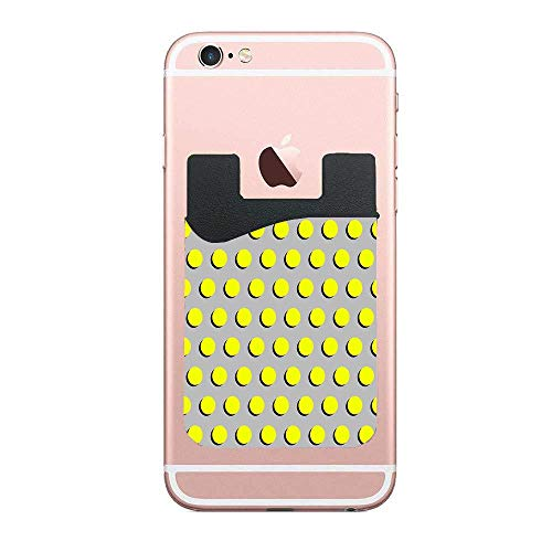(Cusomcardphone Clementine - Dots Classic Fluro Neon Bright Summer Pattern Cell Phone Case Premium PU Phone Card Holder Stick On Wallet for iPhone and Android Smartphones Kangaroo)
