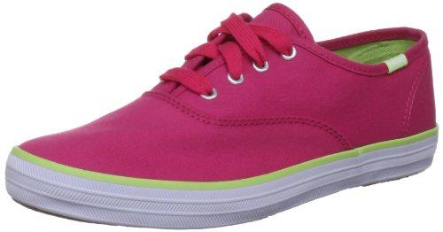 Zapatillas Lona Costuras Azul 28 Rosa