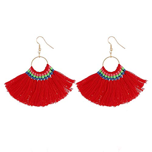 Tassels Ornaments Silver Earrings Red Earrings Studs Pendant Earrings Set Studs Ear Love Cubic Jewelry Women's Heart Zirconia Long rvwqra6