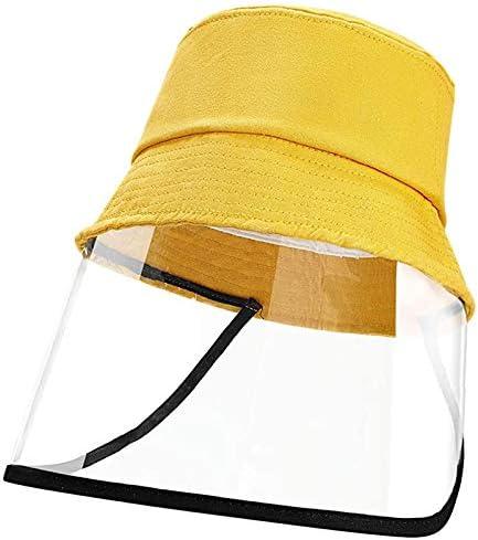 Dustproof Sunhat Cotton Packable Sun Hats Dust Proof Suitable for Kids Boys Girls 49-51cm (Yellow)
