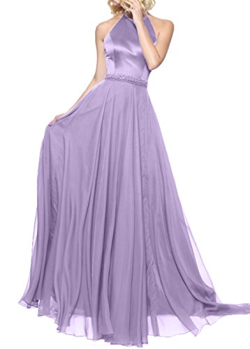 A Neu Abendkleider Brautjungfernkleider Chiffon Blau Rock Flieder langes Festlichkleider Damen linie Charmant vnwFxIn0