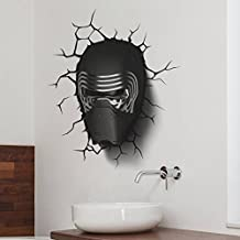 fashionbeautybuy™ Wall Decal Star Wars HeadHome Sticker Paper Removable Living Dinning Room Bedroom Kitchen Art Picture Murals DIY Stick Girls Boys kids Nursery Baby Playroom Decoration