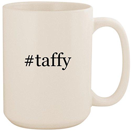 (#taffy - White Hashtag 15oz Ceramic Coffee Mug Cup)