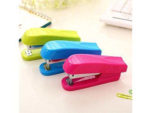 Clipboard Book Folder 1Pc Stylish Candy-Colored Labor-Saving Mini Paper Binding Machine Universal Colorful-Stapler(Random Color) Schedule Yuchoi