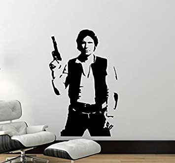 Star Wars Wall Decal - Han Solo Vinyl Wall Sticker - Han Solo Decal (37u0026quot  sc 1 st  Amazon.com & Amazon.com: Star Wars Wall Decal - Han Solo Vinyl Wall Sticker - Han ...