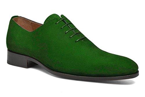 camoscio in in Green 33 Modello HGilliane di Scarpe Classico Leonardo Disegno e Pelle 46 qvIZp