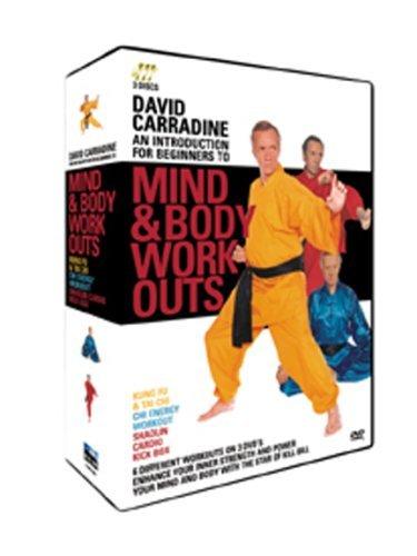 David Carradine - Mind & Body Workouts - 3 Disc Box Set (Kung Fu & Tai Chi / Chi Energy Workout / Shaolin Cardio Kick Box) [DVD]