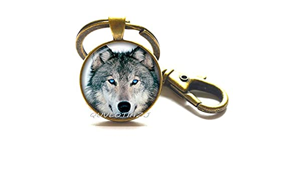 Amazon.com   Wolf Key Ring Wolf Keychain Wolf jewelry wolf Keychain gift  for him wolf head wolf gift Keychain christmas gift gift c143a0edf