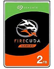 Seagate FireCuda Gaming SSHD 2TB SATA 6.0Gb/s 2.5-Inch Notebooks/Laptops Internal Hard Drive (ST2000LX001)