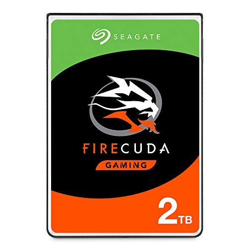 Seagate FireCuda 2TB Solid State Hybrid Drive Performance SSHD - 2.5 Inch SATA 6GB/s Flash Accelerated for Gaming PC Laptop - Frustration Free Packaging (ST2000LX001)