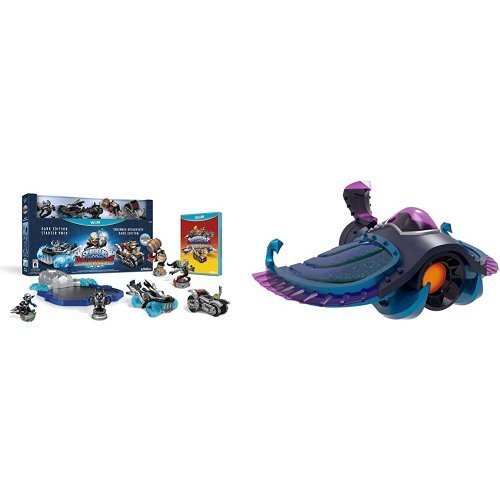 Skylanders SuperChargers Starter Pack (Dark Edition with Stealth Elf) - Wii U with Skylanders SuperChargers: Vehicle Sea Shadow Character Pack