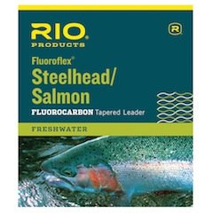 Rio Fishing Products Steelhead/Salmon Fluorocarbon Leader, 9ft 20lb, 3 Pack