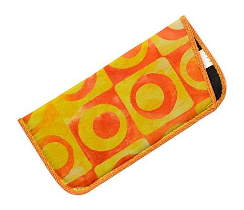 Abstract Fun Pattern Eyeglass Slip Case Yellow Orange Tie-Dye Look USA - Eyeglasses Usa