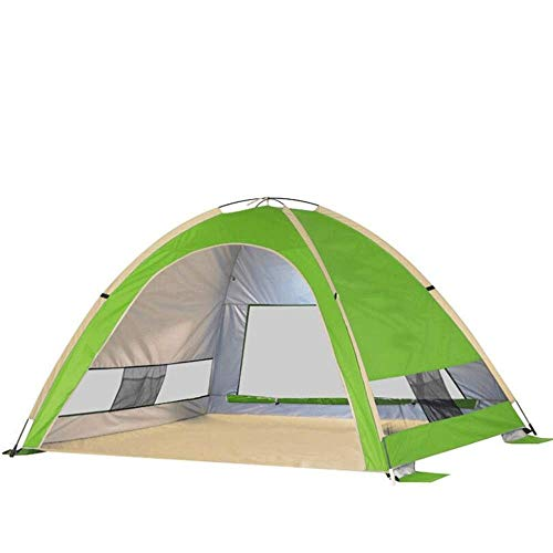 NILINLEI Beach Tent Sun Shelter – Portable Sun Shade Instant Tent for Beach, Stakes,Anti for Fishing Hiking Camping…