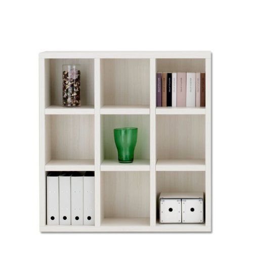 書棚 本棚 フリーラック 幅110cm 完成品 日本製 完成家具 フナモコ ニューラチス ロータイプ FHS-110L ホワイトウッド B008521P72 Parent
