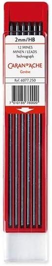 2mm schwarz HB Caran dAche Graphitminen Technograph 619591