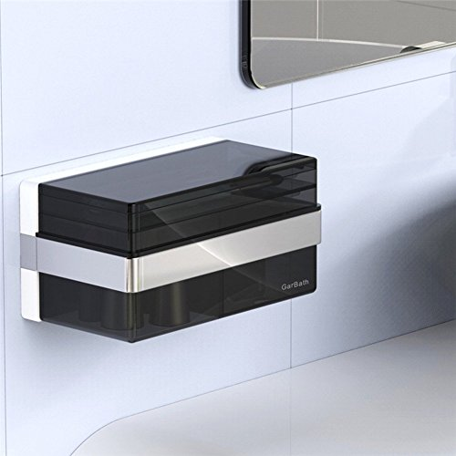 Wall Mounted Basin Stand - DIDIDD Shelf-Storage Box,Jewelry Boxes,Wall-Mounted Cosmetic Stand,Waterproof,Double Suction Cups,2010Cm