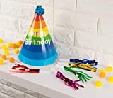 50-Pack Party Horns - Assorted Foil Party