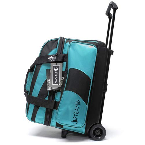 Pyramid Path Deluxe Double Roller Bowling Bag (Island Blue)