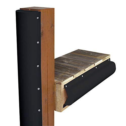 Dock Edge + Inc  PVC Piling Bumper (Black, 6-Feet)