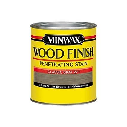 Minwax 700484444 Wood Finish Penetrating Stain Quart Classic Gray