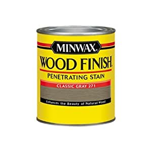 Minwax 700484444 Wood Finish Penetrating Stain, quart, Classic Gray