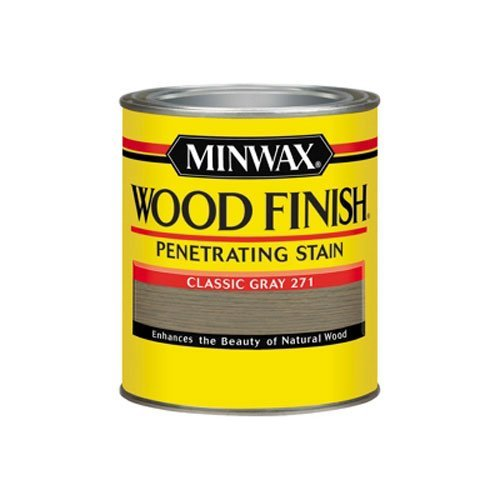 Minwax 700484444 Wood Finish Penetrating Stain, quart, Classic Gray ()
