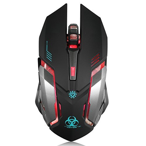 C8 Silent Click Rechargeable With Colorful LED Lights And Wireless Gaming Mouse