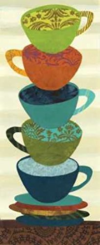 Stacking Cups I Poster Print by Jeni Lee (10 x 20)