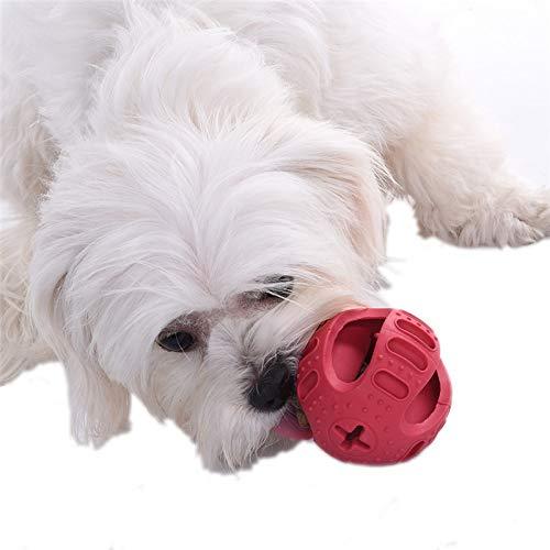 Rubber Multifunctional Dog Treat Holder Ball Toy Pet Treat Dispenser Pet Round Ball Toy Pet Supplies