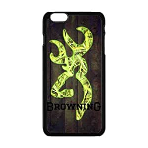 """Retro Browning Cutter Logo Wood Case Cover for Iphone 6 Plus 5.5"""""""