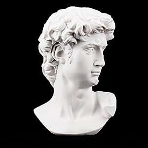 Airgoesin David Busto Escultura Estatua de resina dibujo