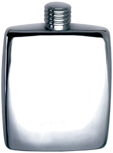Visol Reflection Stainless Steel Hip Flask, Mirror Finish, 5-Ounce, Chrome by Visol (Mirror 5 Finish Ounce)