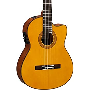 yamaha cgx122msc classical acoustic electric guitar solid spruce top musical. Black Bedroom Furniture Sets. Home Design Ideas