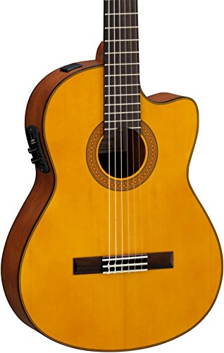 Yamaha CGX122MSC Classical Acoustic-Electric Guitar, Solid Spruce (Ash Acoustic Electric Guitar)