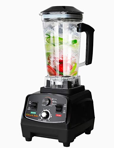 WantJoin Professional Blender, Countertop Blender ,Kitchen Blender Food Mixer 2200W, High Power Home and Commercial Blender with High Speed, Built-in Timer, Smoothie Maker 2200ml for Crusing Ice, Frozen Dessert, Soup,fish (Rubber)