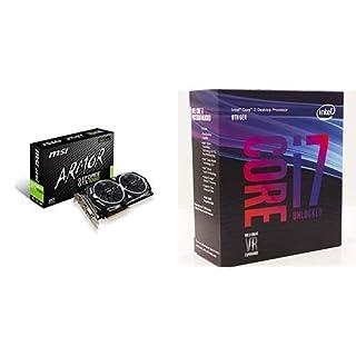 MSI Gaming GeForce GTX 1080 8GB SLI DirectX 12 VR Ready Graphics Card & Intel Core i7-8700K Desktop Processor 6 Cores up to 4.7GHz Turbo Unlocked 300 Series 95W Bundle (B07KNLMZ45) | Amazon price tracker / tracking, Amazon price history charts, Amazon price watches, Amazon price drop alerts