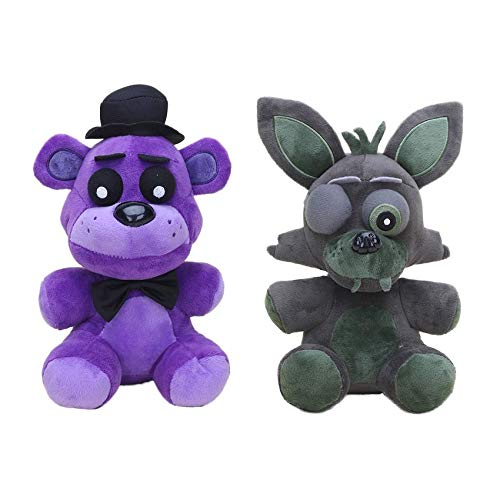 - 2pcs/Set FNAF Plush 25cm Five Nights at Freddy's Sister Location Red Foxy Shadow Golden Freddy Bear Plush Doll Toy Kids Gifts 1 PCs ()