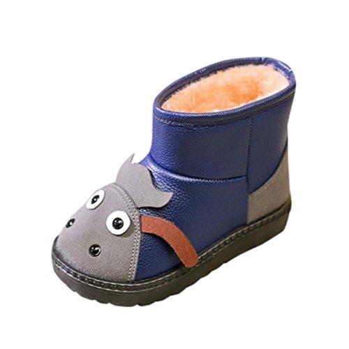 Casual Herbst Boots Kinder Mode Martin Winter Warm Kinder Hunpta Jungen Blau Snow Mädchen HUxwqCzx