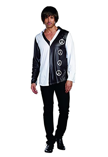 Dreamgirl Men's Yeah Baby! 60's Mod Theme Costume, Black/White, ()