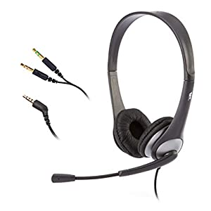 Best Epic Trends 41JzhOIwa6L._SS300_ Cyber Acoustics Stereo Headset, headphone with microphone, great for K12 School Classroom and Education (AC-204), Black