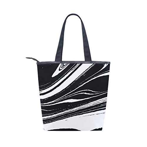 Canvas Shoulder Tote Handbag Bag Rock MyDaily Abstract Lines And Crack Marble Womens UCq5nxExw