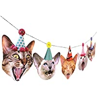 Birthday Cats Garland, party banner decoration, Made in USA, Best Quality