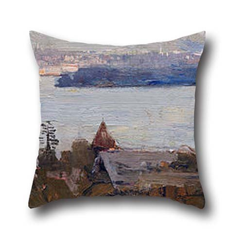 Cushion Cases 20 X 20 Inches / 50 By 50 Cm(twice Sides) Nice Choice For Relatives,him,festival,wife,chair,dining Room Oil Painting Arthur Streeton - Sydney Harbour From Penshurst (Cremorne) (Dining Chair Sydney)
