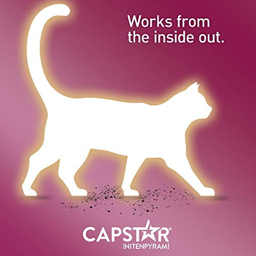 Capstar Fast-Acting Oral Flea Treatment for Cats, 6 Doses, 11 4 mg (2-25  lbs)
