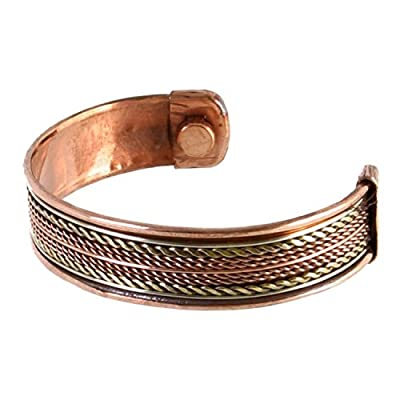 Earth Therapy - Pure Copper Magnetic Therapy Rope Inlay Bracelet For Men and Women - Arthritis Relief from Earth Therapy