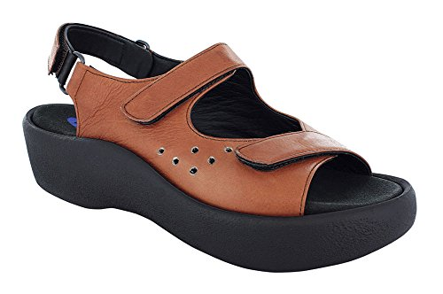 50300 Nubukleder Womens Geöltes Braun Leather 3204 Wolky Jewel Sandals qXpZw8w