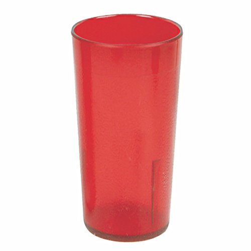 Plastic Tumblers, Shatter Proof Cups, For Restaurant, Lunchroom, Cafeteria, Bar - Pack of 12 (16 oz, Red) -